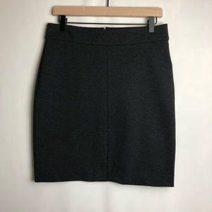 JCrew 365 mini pencil skirt dark gray
